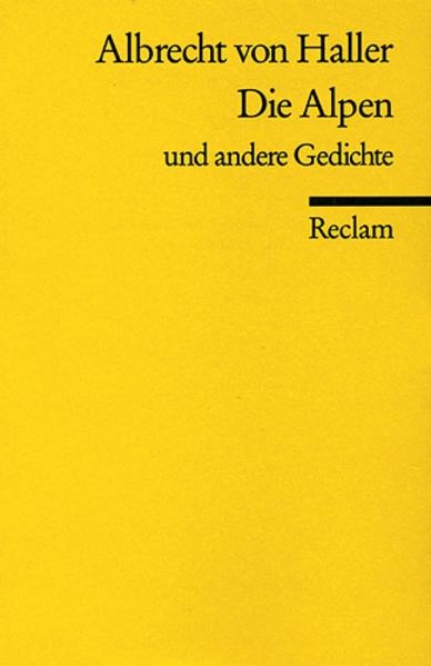 Kostenloser Download Die Alpen u. a. Gedichte Epub