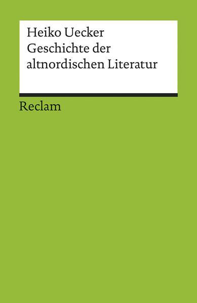 Geschichte der altnordischen Literatur PDF Download