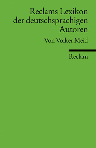 Reclams Lexikon der deutschsprachigen Autoren - Coverbild