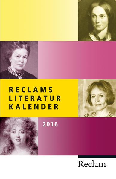 Reclams Literatur-Kalender 2016 - Coverbild
