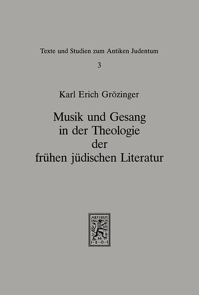 Musik und Gesang in der Theologie der frühen jüdischen Literatur - Coverbild