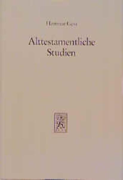 Alttestamentliche Studien / Alttestamentliche Studien - Coverbild