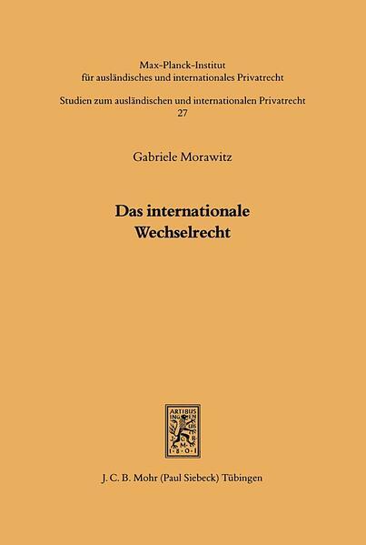 Das internationale Wechselrecht - Coverbild