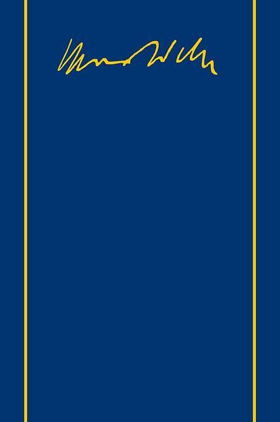 Max Weber Gesamtausgabe / Max Weber-Gesamtausgabe - Coverbild