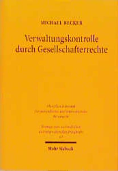 Verwaltungskontrolle durch Gesellschafterrechte - Coverbild