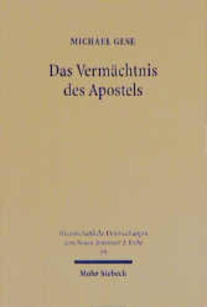 Das Vermächtnis des Apostels - Coverbild