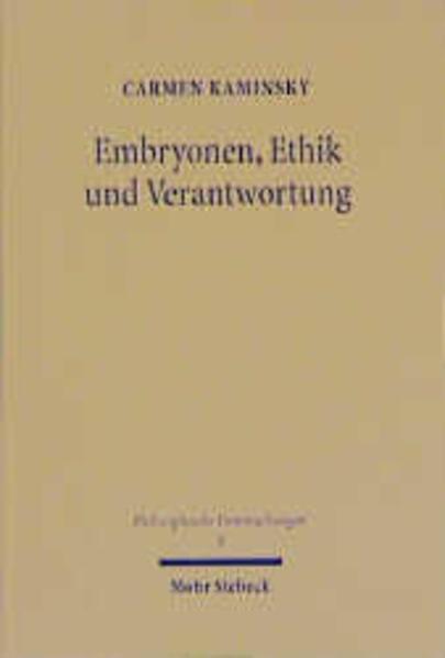 Embryonen, Ethik und Verantwortung - Coverbild