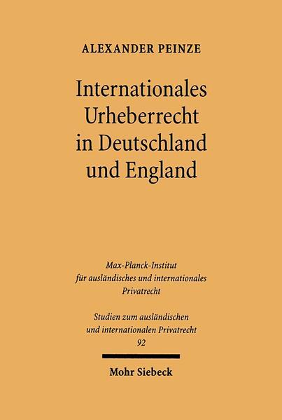 Internationales Urheberrecht in Deutschland und England - Coverbild