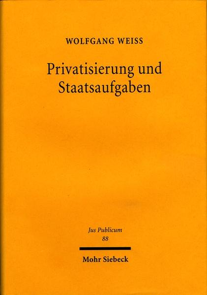 Privatisierung und Staatsaufgaben - Coverbild