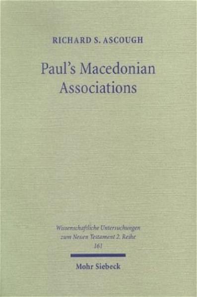 Paul's Macedonian Associations - Coverbild