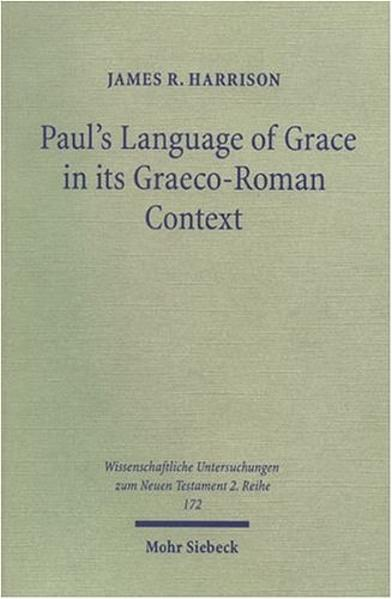 Paul's Language of Grace in its Graeco-Roman Context - Coverbild