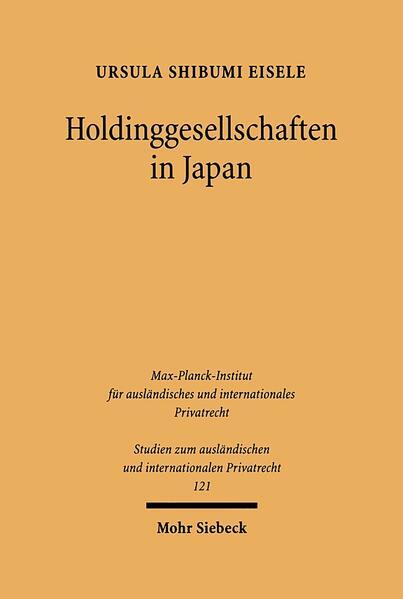 Holdinggesellschaften in Japan - Coverbild