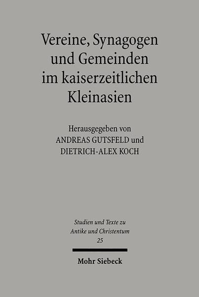 Vereine, Synagogen und Gemeinden im kaiserzeitlichen Kleinasien - Coverbild