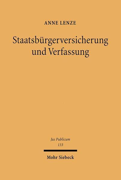 Staatsbürgerversicherung und Verfassung - Coverbild