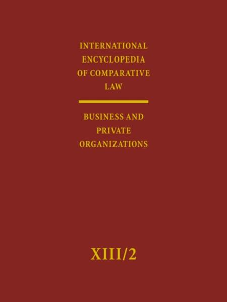 International Encyclopedia of Comparative Law. Under the Auspices... / International Encyclopedia of Comparative Law - Coverbild