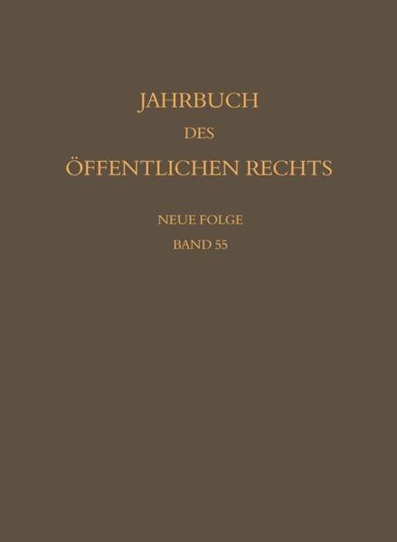 Jahrbuch des öffentlichen Rechts der Gegenwart. Neue Folge / Jahrbuch des öffentlichen Rechts der Gegenwart. Neue Folge - Coverbild
