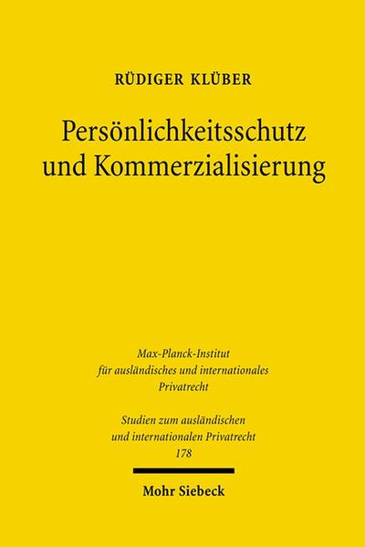 Persönlichkeitsschutz und Kommerzialisierung - Coverbild