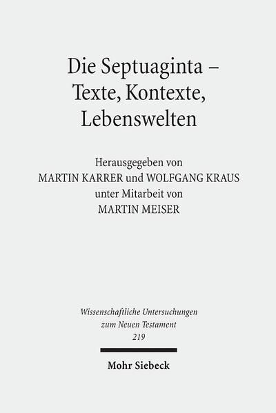 Die Septuaginta - Texte, Kontexte, Lebenswelten - Coverbild