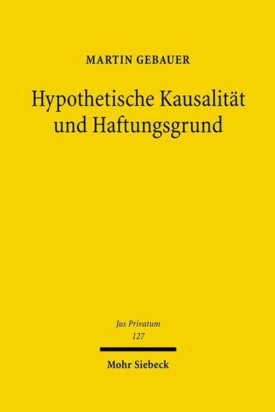 Hypothetische Kausalität und Haftungsgrund - Coverbild