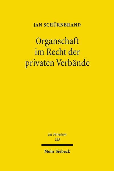 Organschaft im Recht der privaten Verbände - Coverbild