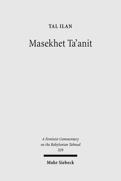 Masekhet Ta'anit - Coverbild