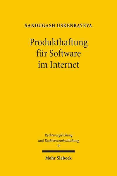Produkthaftung für Software im Internet - Coverbild