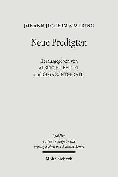 Kritische Ausgabe / 2. Abteilung: Predigten - Coverbild