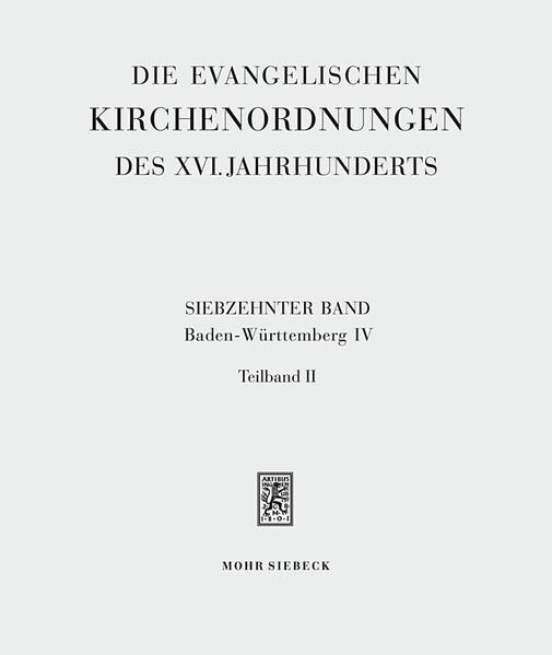Die evangelischen Kirchenordnungen des XVI. Jahrhunderts - Coverbild