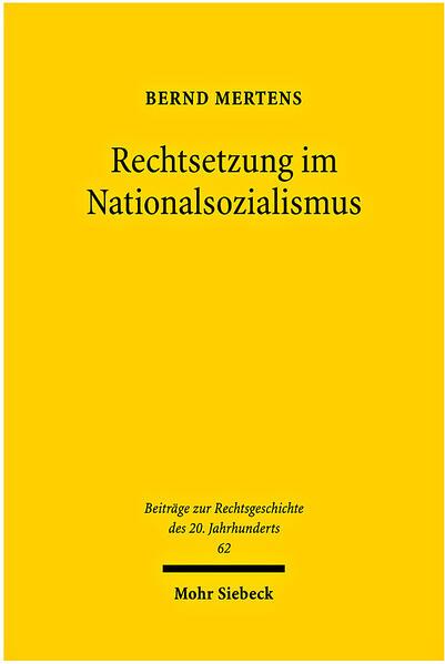 Rechtsetzung im Nationalsozialismus - Coverbild