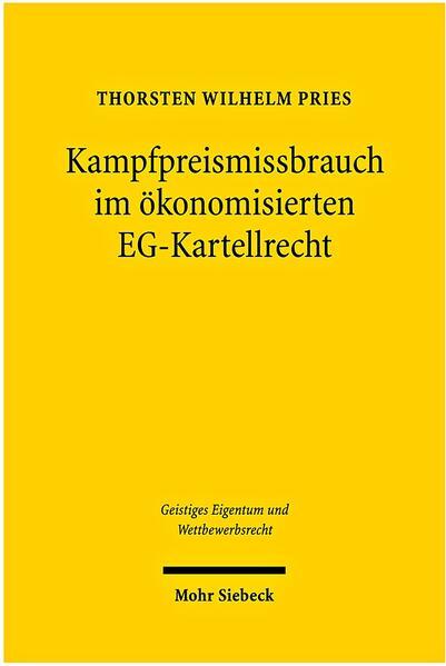 Kampfpreismissbrauch im ökonomisierten EG-Kartellrecht - Coverbild