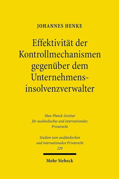 Effektivität der Kontrollmechanismen gegenüber dem Unternehmensinsolvenzverwalter - Coverbild