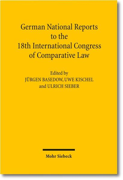 German National Reports to the 18th International Congress of Comparative Law - Coverbild