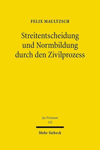 Streitentscheidung und Normbildung durch den Zivilprozess - Coverbild