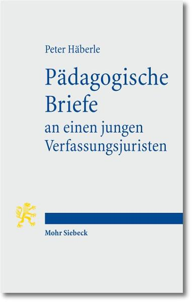 Pädagogische Briefe an einen jungen Verfassungsjuristen - Coverbild