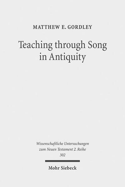 Teaching through Song in Antiquity - Coverbild