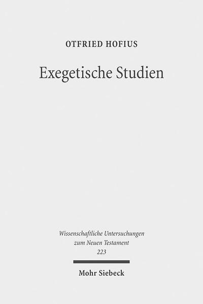 Exegetische Studien - Coverbild