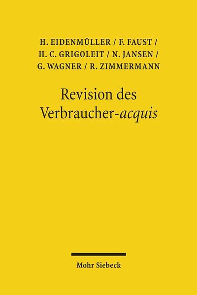 Revision des Verbraucher-acquis - Coverbild