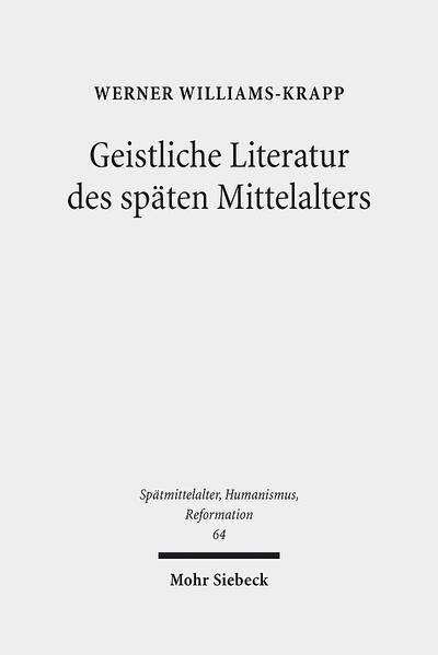 Geistliche Literatur des späten Mittelalters - Coverbild