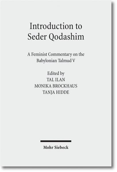 Introduction to Seder Qodashim - Coverbild
