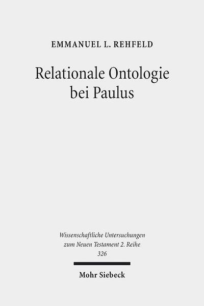 Relationale Ontologie bei Paulus - Coverbild