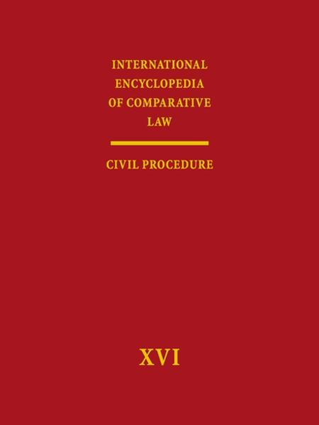 International Encyclopedia of Comparative Law - Coverbild