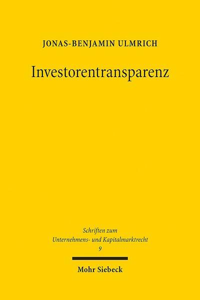 Investorentransparenz - Coverbild