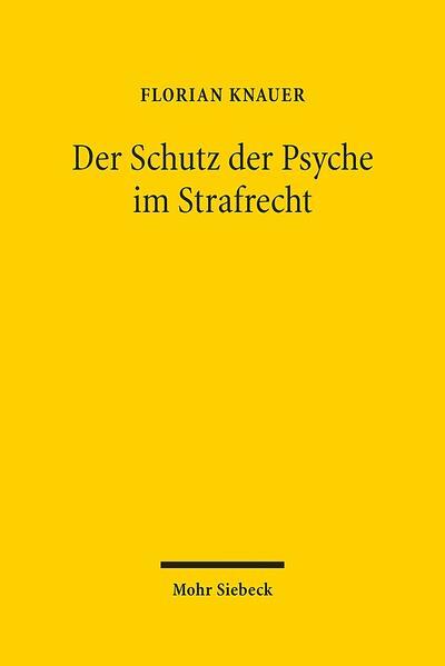 Der Schutz der Psyche im Strafrecht - Coverbild