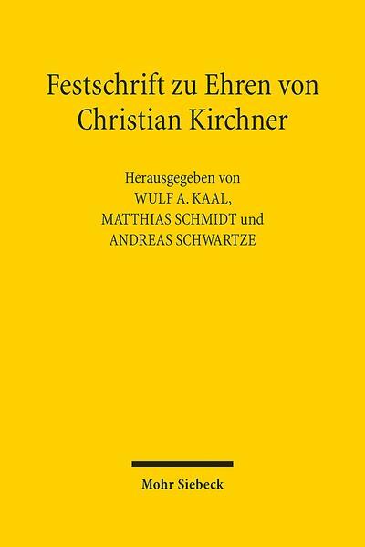 Festschrift zu Ehren von Christian Kirchner - Coverbild