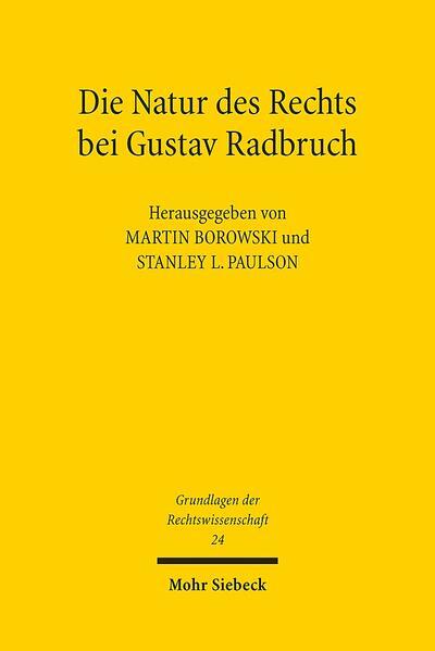 Die Natur des Rechts bei Gustav Radbruch - Coverbild