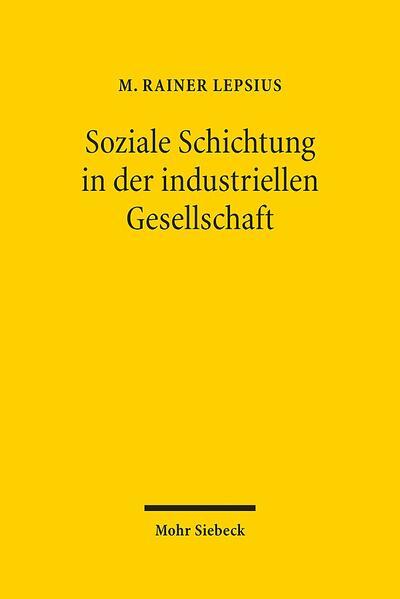 Soziale Schichtung in der industriellen Gesellschaft - Coverbild