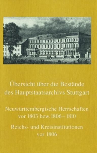 Übersicht über die Bestände des Hauptstaatsarchivs Stuttgart - Coverbild