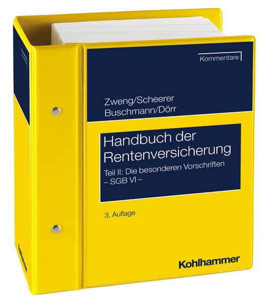 Handbuch der Rentenversicherung - SGB VI - Teil II - Coverbild