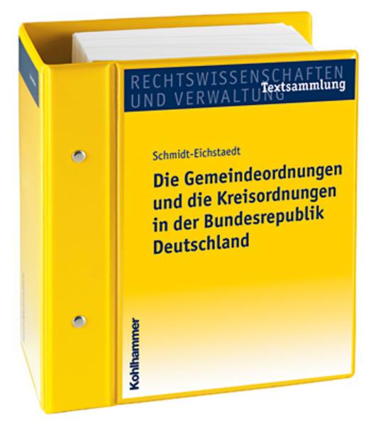 Die Gemeindeordnungen und Kreisordnungen in der Bundesrepublik Deutschland - Coverbild