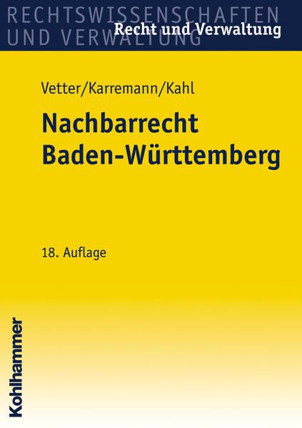 Nachbarrecht Baden-Württemberg - Coverbild